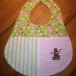 Personalized Baby Bibs. Embroidered Name or Graphic You Choose Color Theme